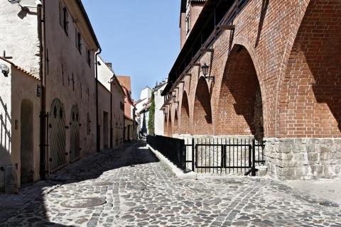 Bild: In der Altstadt von Riga am Basteja bulvāris.