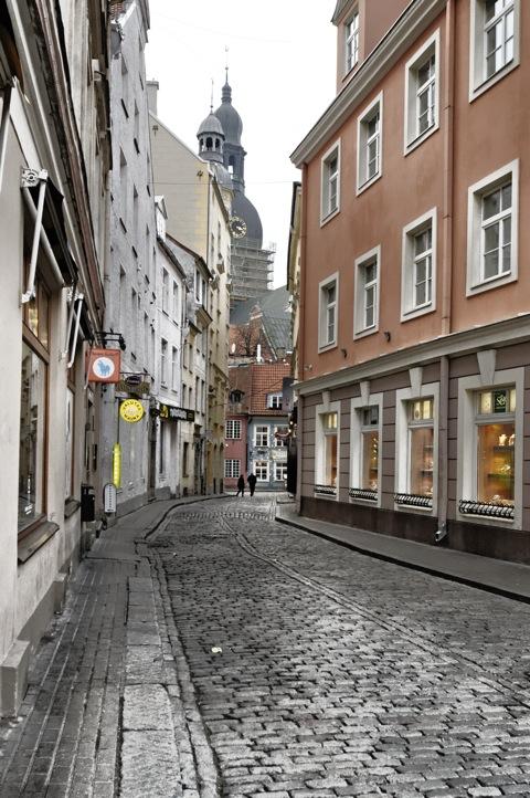 Bild: In den Gassen der Altstadt von Riga.