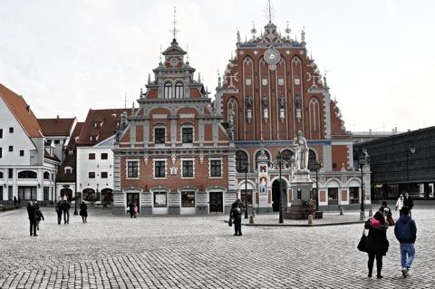 Bild: Ein Zeugnis der Hanse - das Schwarzhäupterhaus in Riga.