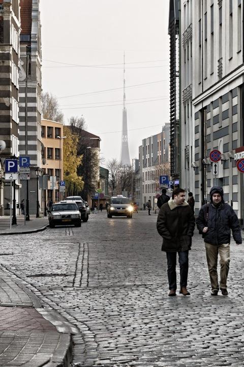 Bild: Riga - der Fernsehturm.