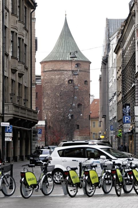 Bild: Am Pulverturm von Riga.