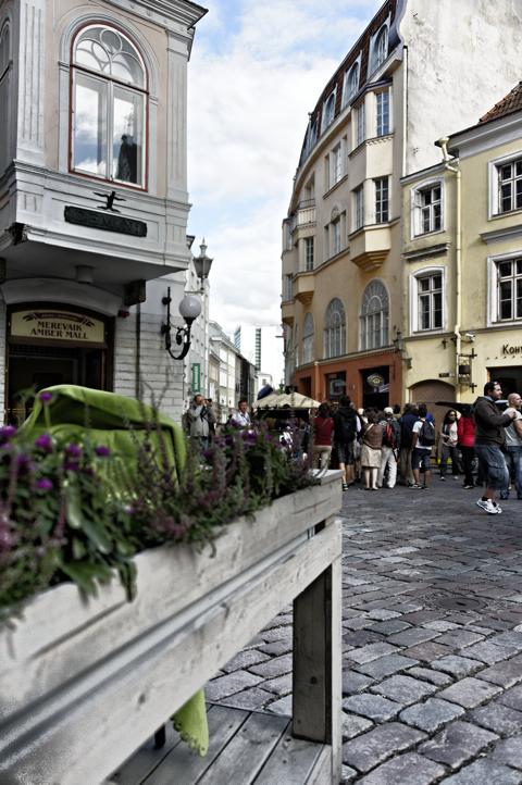 Bild: Scharen von Touristen in der Kuninga Straße in Tallin. NIKON D700 mit AF-S NIKKOR 28-300 mm 1:3,5-5,6G ED VR ¦¦ ISO400 ¦ f/3 ¦ 1/1600 s ¦ FX 28 mm.
