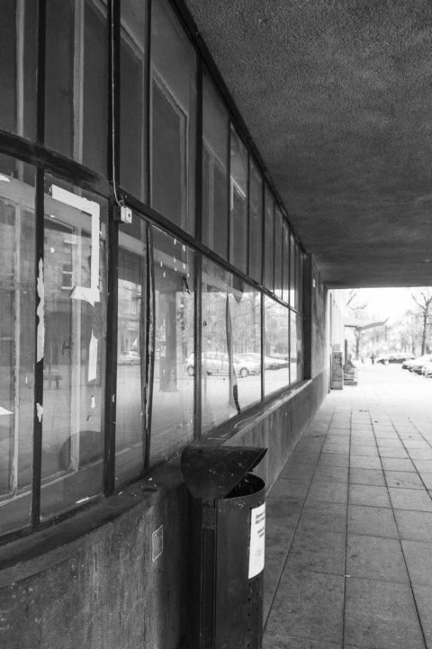 Bild: Verlassenes Geschäft auf dem Gediminos Prospektas in Vilnius.