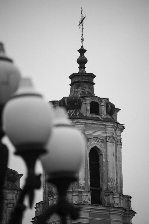 Bild: Detailansicht eines Turmes der Kirche St. Jakob.