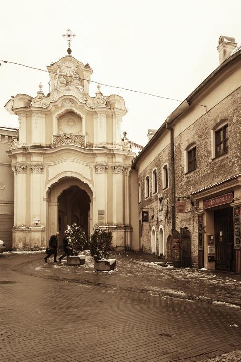 Bild: Eingang zum Hotel DOMUS MARIA - untergebracht in einem ehemaligen Kloster der Karmeliterinnen. NIKON D700 mit AF-S NIKKOR 28-300 mm 1:3.5-5.6G ED VR.