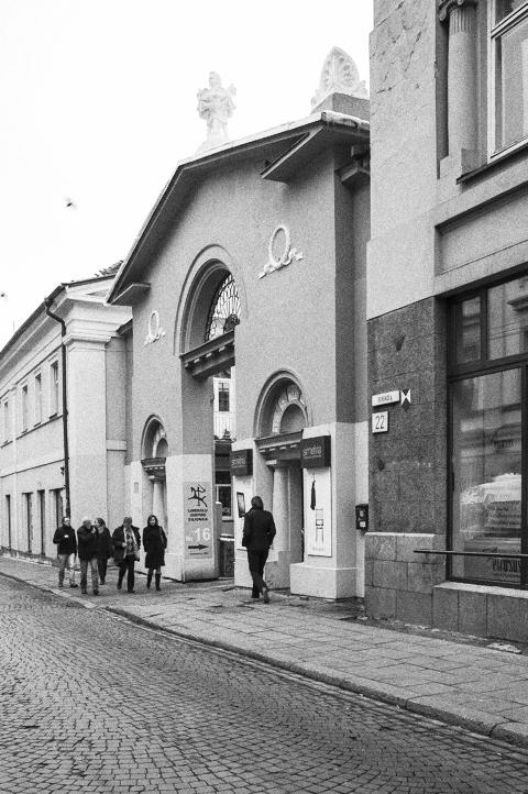 Bild: Spuren jüdischen Lebens in der Vilniaus gatvė in Vilnius. NIKON D700 mit CARL ZEISS Distagon T* 2.8/25 ZF.