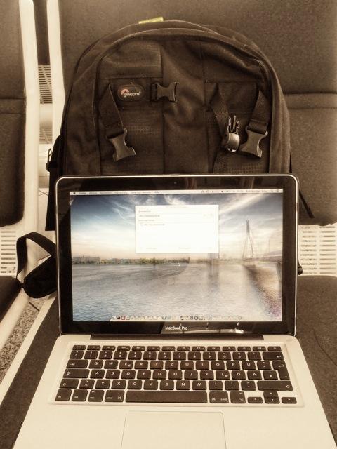 Bild: Mein Fotorucksack für die Winterreise nach Tallinn.
