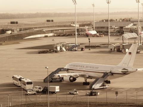 Bild: Auf dem Besucherberg des Flughafen München.