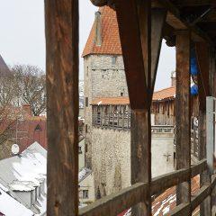 Bild: Wehrgang auf der Stadtmauer von Tallinn.