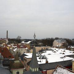 Bild: Blick von der Stadtmauer an der Müürivahe Richtung Kalev Spa.