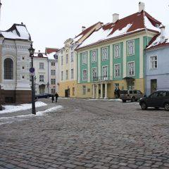 Bild: An der Alexander-Newski-Kathedrale auf dem Toompea von Tallinn.