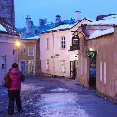 Bild: Später Nachmittag am Pikk jalg auf dem Domberg von Tallinn.
