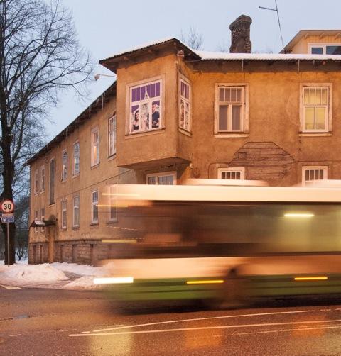Bild: Tallinn am frühen Morgen im Winter.