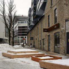 Bild: Das Rotermanni Kvartal in Tallinn hat mittlerweile einen Teil seiner Tristesse abgelegt.