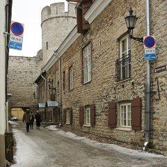 Bild: Die Stadtmauer von Tallinn an der Bremeni käik.