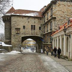 """Bild: Stadttor an der """"Dicken Margarethe"""" von der Altstadt von Tallinn aus gesehen."""