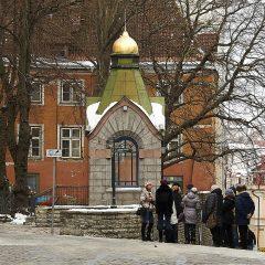 Bild: Stadtführung am Roheline Turg in Tallinn.