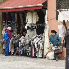 Bild: Strickwarenmarkt an der Stadtmauer in der Müürivahe in der Unterstadt von Tallinn.