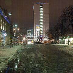Bild: Das SOKOS HOTEL VANA VIRU war früher ein Treffpunkt von KGB & Konsorten. Kurz vor 06:00 früh liegt es noch in tiefem Schlaf.