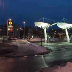 Bild: In Tallinn funktioniert vieles elektronisch. Automatentankstelle in Maakri.