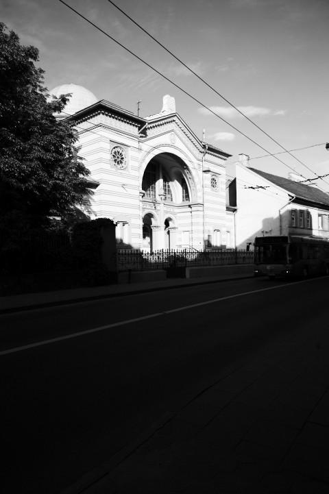 Bild: Die Jüdische Synagoge in  der Pylimo gatvė im Stadtteil Naujamiestis in Vilnius. NIKON D700 mit AF-S NIKKOR 24-120 mm 1:4G ED VR.
