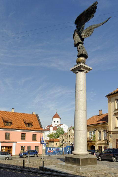 Bild: Der Engel von Užupis wurde am 1. April 2001 enthüllt. Die Statue ist heute das Wahrzeichen der Freien Republik Užupis. NIKON D700 und AF-S NIKKOR 24-120 mm 1:4G ED VR.