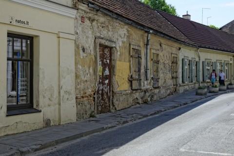 Vormittags unterwegs in Vilnius in der Totorių gatvė. NIKON D700 und AF-S NIKKOR 24-120 mm 1:4G ED VR.