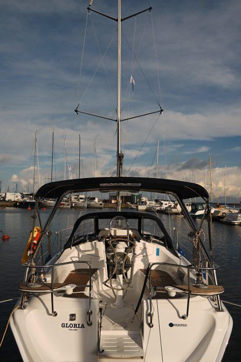 Bild: Yacht im Hafen von Pirita bei Tallinn. NIKON D700 und AF-S NIKKOR 24-120 mm 1:4G ED VR.
