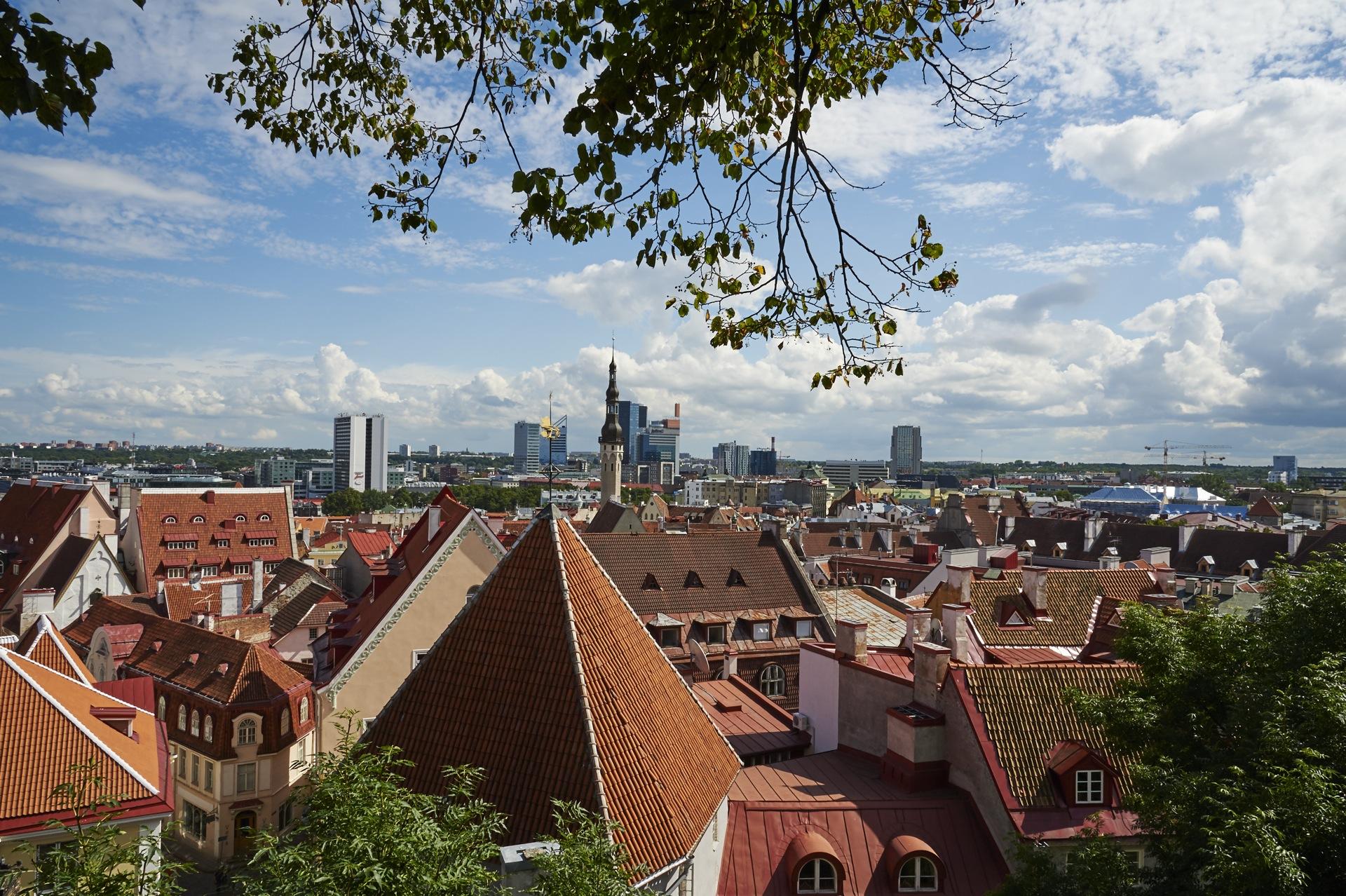 Bild: Vom Domberg hat man einen schönen Blick über Tallinn. NIKON D700 mit AF-S NIKKOR 24-120 mm 1:4G ED VR. ISO 200 ¦ f/16 ¦ 24 mm ¦ 1/320 s ¦ kein Blitz. Klicken Sie auf das Bild um es zu vergrößern.
