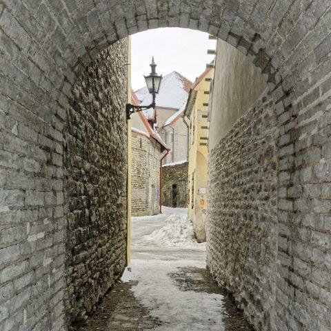 Bild: Geheimnisvolles Tallinn abseits des Touristenrummels. In der Laboratooriumi Straße . NIKON D700 mit AF-S NIKKOR 28-300 mm 1:3.5-5.6G ED. ISO 400 ¦ f/9 ¦ 28 mm ¦ 1/400 s ¦ kein Blitz. Klicken Sie auf das Bild um es zu vergrößern.