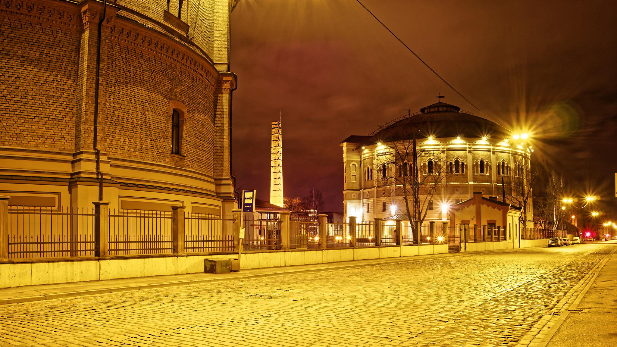 Bild: Das Gasometer in der Matīsa iela in Rīga wurde vom Architekten Karl Johann Felsko entworfen.