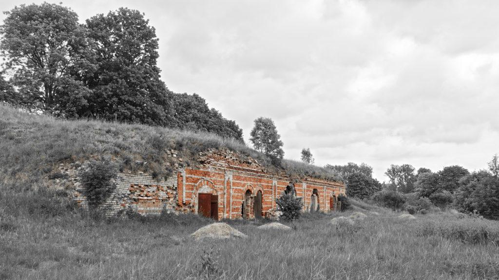 Bild: Eine weitere Kasematte in der Festung Daugavgrīva oder Dünamünder Schanze in Rīga.