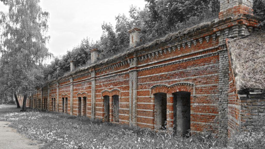 Bild: Kasematte am Südeingang in der Festung Daugavgrīva oder Dünamünder Schanze in Rīga.