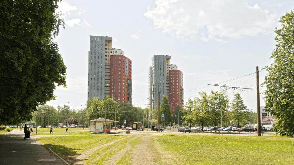 """Bild: Die modernen Wohnbauten """"SOLARIS"""" im Stadtteil Imanta von Rīga wurden zwischen 2004 und 2006 errichtet."""