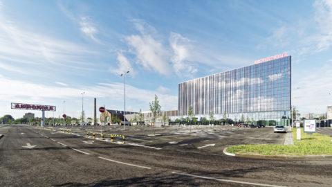 Bild: In Ķengarags befindet sich seit dem Frühjahr 2019 das größte Einkaufszentrum Lettlands - die AKROPOLE.