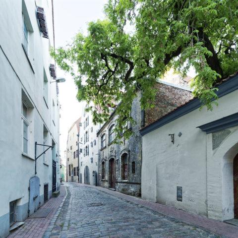 Bild: Rīga war eine bedeutende Handelsstadt. Für die Zwischenlagerung der Waren wurden viele Speicherhäuser benötigt. Speichergebäude in derAlksnāja iela.