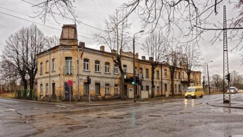 Bild: Hier sind wir im Stadtteil Bišumuiža von Rīga, der sich auf dem linken (westlichen) Ufer der Daugava ganz im Süden befindet. Klicken Sie auf des Bild um es zu vergrößern.