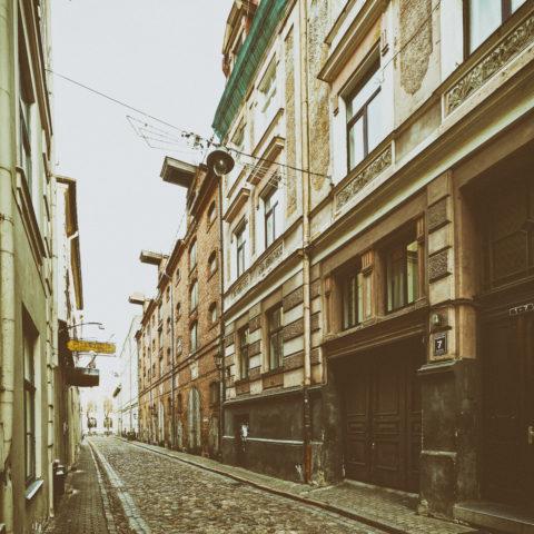 Bild: Rīga - Historisches Speicherhaus in der Arsenāla iela in der Nähe des Schlossplatzes. Klicken Sie auf das Bild um es zu vergrößern.
