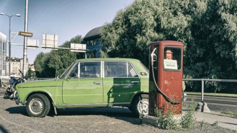 Bild: Ein wenig Ostalgie. Werbung in Tallinn. Aufnahme vom August 2012. Klicken Sie auf das Bild, um es zu vergrößern.