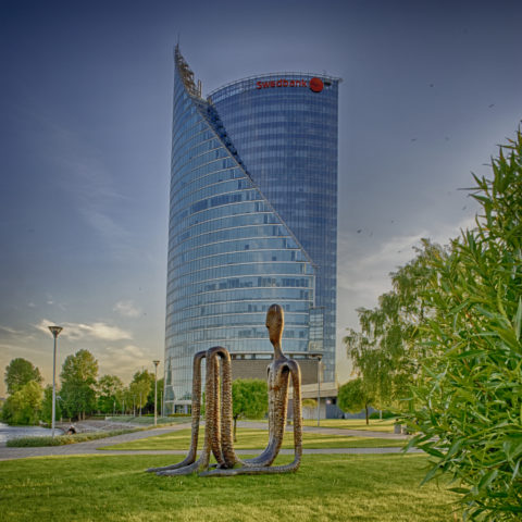 Image: The SWEDBANK LATVIA headquarters at the left bank of the Daugava river in Rīga. Click on the image to enlarge it.