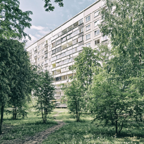 Image: The neighborhood of Zolitūde in Rīga. Multi-storey apartment buildings. Click on the image to enlarge it.