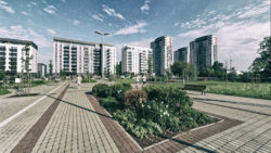 Image: The Neighborhood of Skanste in Rīga. The modern multi-multi-storey apartment houses. Click on the image to enlarge it.
