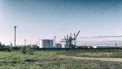 Image: The global economy is suffering from the corona crisis, including Latvia. Port facility in the Sarkandaugava district in Rīga. Picture taken 2014. Double click on the image to enlarge.