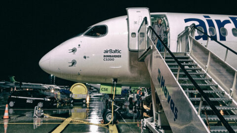 Image: airBaltic Bombardier CS300 at Rīga Airport. Recorded in October 2017. Today airBaltic has still only the modern and fuel efficient Airbus A220-300 in service. Double click on the image to enlarge.