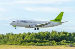 Image: airBaltic Boeing 737 at Stockholm Arlanda Airport. Recorded by johanwiden69 - pixabay. Today airBaltic has still only the modern and fuel efficient Airbus A220-300 in service. Double click on the image to enlarge.