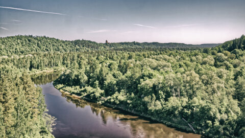 Image: The Image: The Gauja River and the Castle Ruins of Turaida near Sigulda. Double click on the image to enlarge.Gauja River and the Castle Ruin of Turaida near Sigulda. Double click on the image to enlarge.