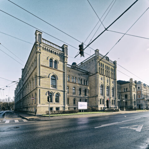 Image: The Polytecnic - now Latvijas Universitāte - in Rīgā. Double click on the image to enlarge.